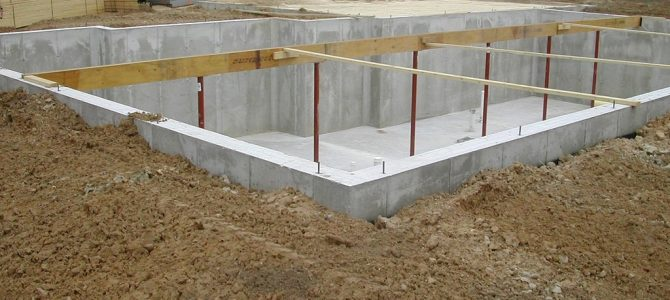 Poured Concrete Block Foundation Cost for Home and Basement Construction
