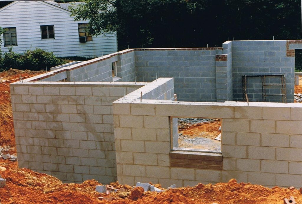 House foundation construction