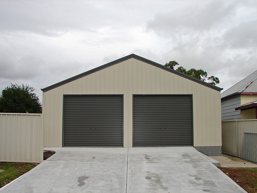 Garage builders cape town single double door two car for Cost to build a single car garage