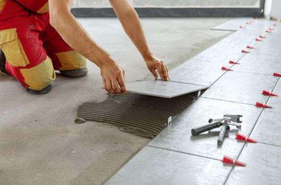 replacing of bathroom floor