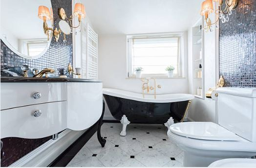simple and glamorous bathroom